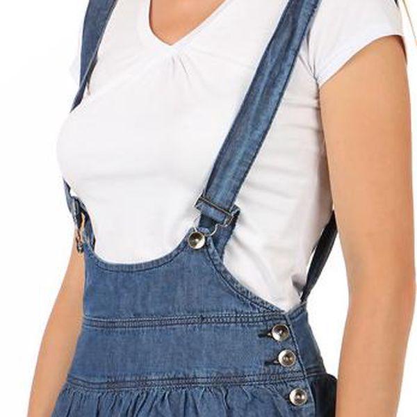 TopMode Dámská laclová sukně modrá