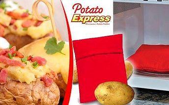 Pořiďte si perfektního pomocníka do kuchyně! Brambory v sáčku Potato Express uvaříte snadno a rychle během pouhých 4 minut v mikrovlnné troubě. V sáčku se vytvoří parní kapsa, díky které jsou brambory za 4 minuty hotové a krásně měkké.