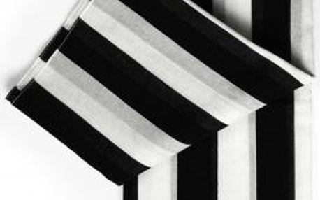 Šátek Remember XL Black & White , 180x105 cm