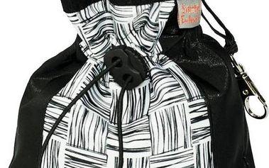 Samohýl Zara textil černý/bílý