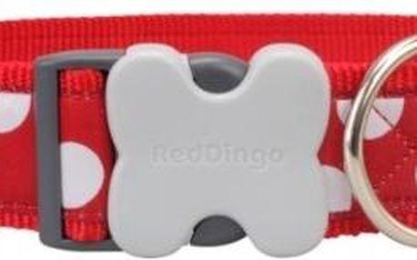 Red Dingo obojek M White Spots on Red