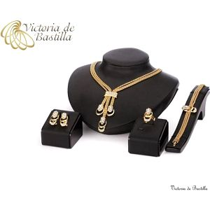 Souprava pozlacených šperků Victoria de Bastilla