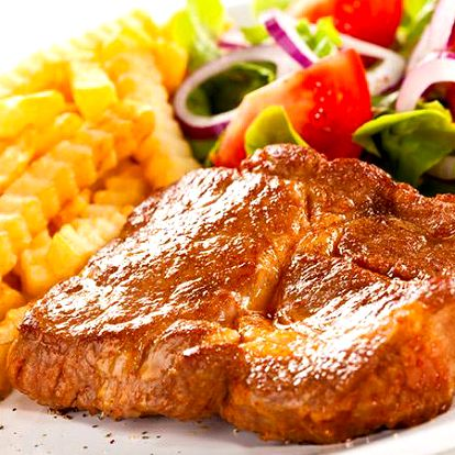Steaky pro 2 v restauraci Na Jezerce v Praze