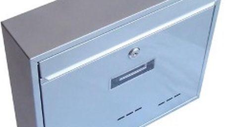 Poštovní schránka RADIM velká 360x310x90mm, šedá