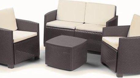 Ratanový nábytek DOMO Garden Etna béžový