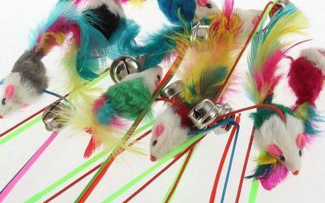 Kočičí hračka barevná krysa!