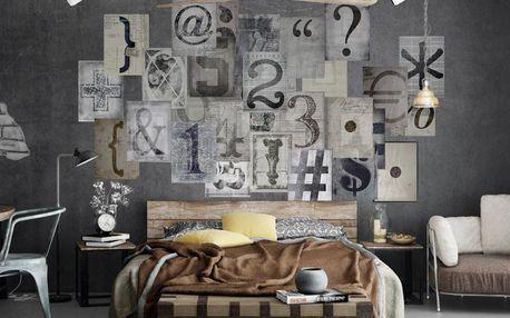 Kreativní koláž Typo Grey - doprava zdarma!