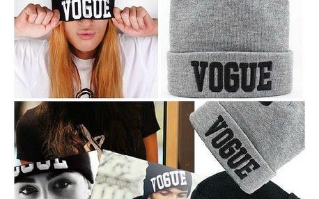 Stylová čepice Vogue - mějte hlavu v teple - VÝPRODEJ!