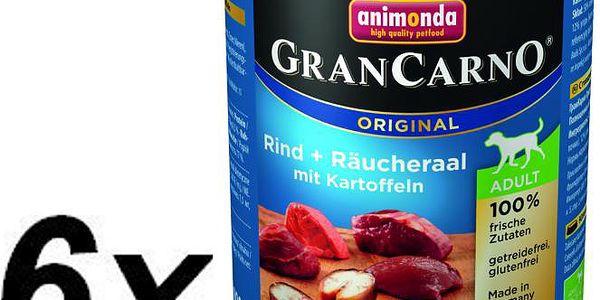 Krmivo pro psy Animonda Grancarmo Adult -uzený úhoř+brambory 6 x 800g