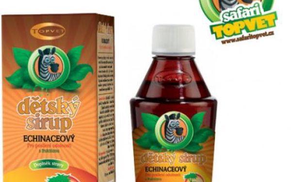 Echinacea dětský sirup s fruktózou 120 g pro podporu imunity!