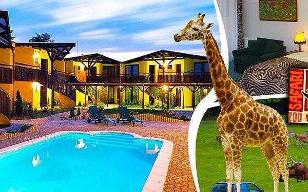 Hotel Safari pro 2 a dítě do 4 let na 2-3 dny se vstupem do ZOO,bowlingem,snídaní,slevami na zážitky