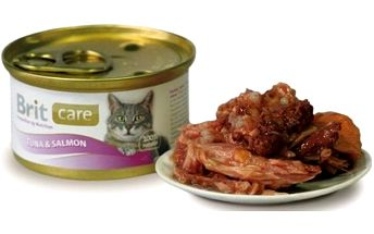 Brit Care Cat konzerva Tuna & Salmon 80 g