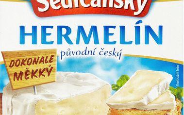 Sedlčanský Sedlčanský Hermelín původní český zrající sýr s bílou plísní na povrchu 100g