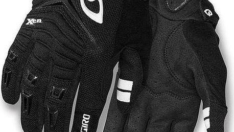 GIRO Xen black/white vel. L cyklistické rukavice