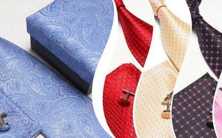 Set kravaty, manžetových knoflíčků a…