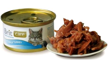 Brit Care Cat konzerva Tuna & Turkey 80 g