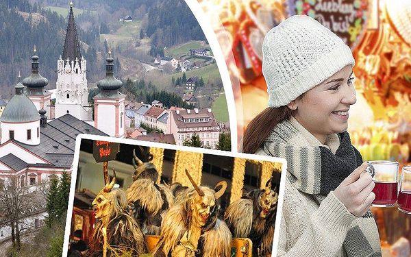Adventní zájezd pro jednoho do rakouského Mariazellu. Prohlídka města, trhy a tradiční běh čertů!