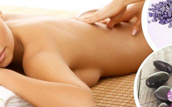 Masáž klasická, levandulová či lávovými kameny. Vychutnejte si masáž při svíčkách a relaxační hudbě.