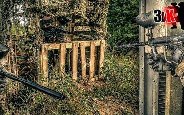 Celodenní paintball na vojenské základně vč. 100 kuliček