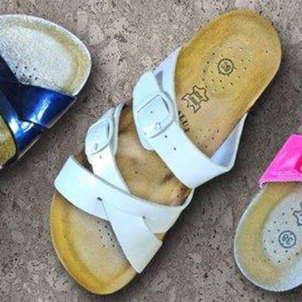 Dámské korkové pantofle Samlux s dopravou zdarma