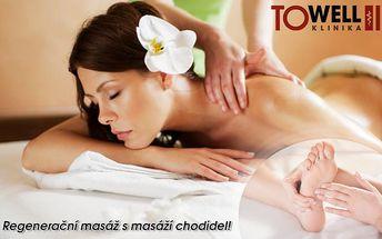Hodinová regenerační masáž s reflexní masáží chodidel na luxusní klinice Towell v Brně!