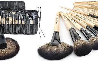 Mega set za neskutečnou cenu - 24dílná sada kosmetických štětců v praktickém pouzdře pro špičkový Make-Up .