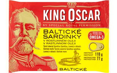 King Oscar King Oscar Baltické sardinky v rostlinném oleji 110g
