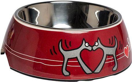 ROGZ BOWLZ Bubble miska L Red Heart 700 ml