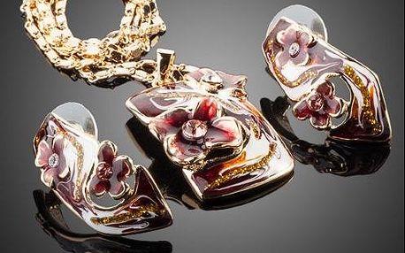 Luxusný ručne vyrábaný set - Náhrdelník a náušnice v darčekovom balení.