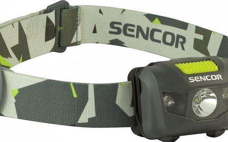 Sencor SLL 55 čelovka 3w+2R grey