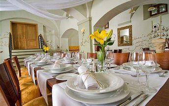 Degustační menu na zámku Ctěnice