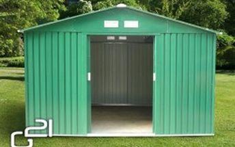 G21 Zahradní domek GAH 1092 311 x 351 cm, zelený