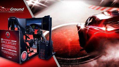 Závodní automobilový trenažér - adrenalin…