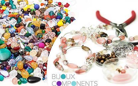 MIX SKLENĚNÝCH KORÁLKŮ 0,5kg nebo 1 kg. Různé tvary, barvy a velikosti. Vyrobte si šperky dle své fantazie.
