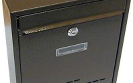 Poštovní schránka RADIM, hnědá, 260x310x90 mm 260x310x90mm, hnědá