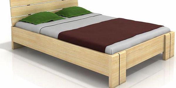 Manželská postel z masivu borovice Ulrik