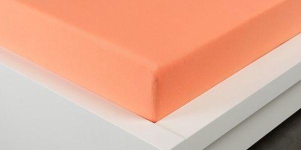 XPOSE ® Jersey prostěradlo Exclusive dvoulůžko - lososová 140x200 cm