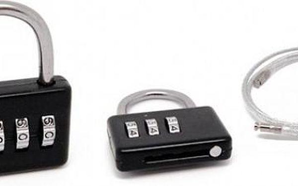 Zámek nejen na kufr v různých barvách, který můžete proměnit v lankový zámek, vhodný pro nová i stará zavazadla, ochránní Vaše cennosti i nervy!