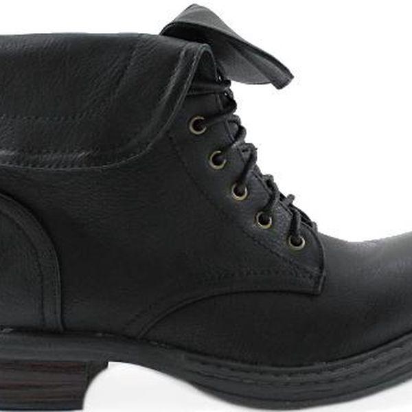 COLORFUL Černé kotníkové boty LT7009B 38