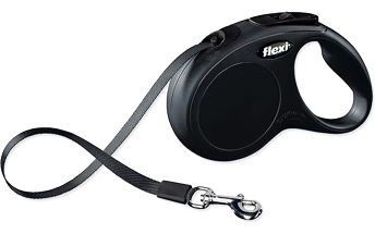 Flexi Classic páskové vodítko S 5 m černé