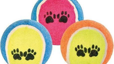 Trixie tenisový míček barevný s tlapkami 6 cm