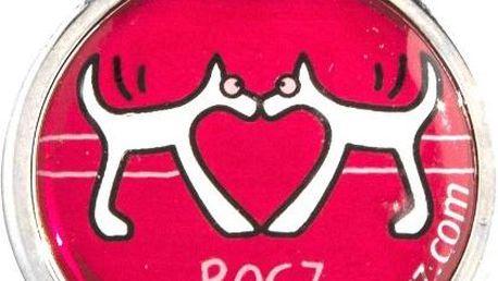 ROGZ ID TAGZ kovová známka Red Heart 20 mm