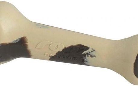 ROGZ DA-BONE Jaw-Gym gumová kost hnědá 9,5 cm