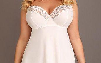 Lupoline dámská luxusní košilka Lady white 85/C bílá