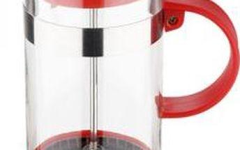 Konvička na čaj a kávu French Press 600 ml červená RENBERG RB-3108cerv