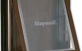 Staywell dvířka hnědá s transparentním flapem 775