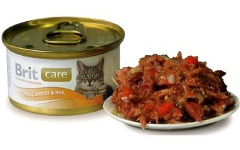 Brit Care Cat konzerva Tuna, Carrot & Pea 80 g