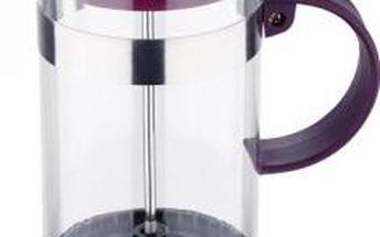 Konvička na čaj a kávu French Press 600 ml fialová RENBERG RB-3108fial