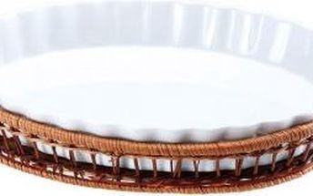 Porcelánová forma v košíku ovál velký 33 x 24 cm WELLBERG WB-10307