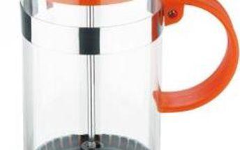 Konvička na čaj a kávu French Press 800 ml oranžová RENBERG RB-3109oran